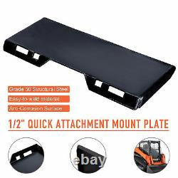 1/2 Quick Attach Mount Plate Attachment for Tractors Skidsteers Loaders