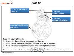 12V Starter For Ford/New Holland/ Skid Steer/Loader 26211 LRS115 LRS134 LRS212