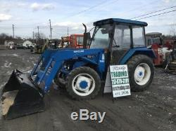 1996 New Holland 3930 4X4 Utility Tractor With Cab & Loader NEEDS WORK