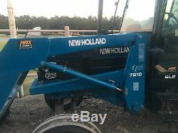 1996 New Holland 7740 SLE 95HP Tractor w Wheel Weights 7210 Loader