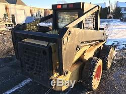 1997 New Holland LX885 skid steer loader 60hp with door & aux hydraulic CAB DOOR