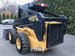 1998 New Holland LX885 Rubber Tire Skid Steer Loader Cab Diesel Wheel Skidsteer
