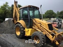 1999 New Holland 575E 4x4 Tractor Loader Backhoe with Cab & Extenda Hoe