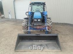 1999 New Holland Tl90 Loader Tractor Cab Heat 4x4 3 Point 3 Remotes 3445 Hours