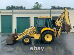 2000 New Holland 575E Tractor Loader Backhoe, 4x4, Cab, Ext, Clean, Work Ready