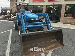 2000 New Holland Tc18 Compact Tractor Loader Post Hole Digger 4x4 18hp Hydro