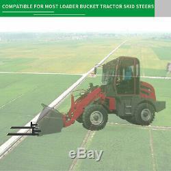 2000lb/4000lb Tractor Pallet Forks Bucket Clamp On For Backhoe/Skid Steer Loader