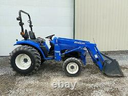 2001 NEW HOLLAND TC29D TRACTOR With LOADER, 4X4, 29 HP PRE-EMISSIONS, 1082 HOURS