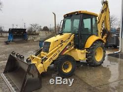 2001 New Holland 575E Loader Backhoe 4x4, 5536 Hours, One owner Machine