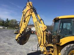 2001 New Holland LB75. B Tractor Loader Backhoe with Cab & Extenda Hoe