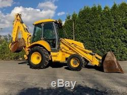 2001 New Holland LB90 Back-Hoe Loader 4x4 Extend-A-Hoe Full Cab Diesel Tractor