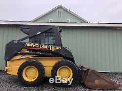 2002 New Holland Ls140 Skid Steer Loader Enclosed Cab, Heat 863 Hours