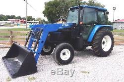 2002 New Holland TL 90 with Loader and Bucket- Ships @ $1.85 per loaded mile