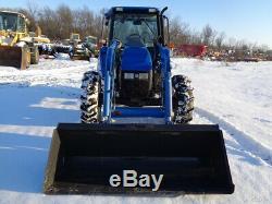 2002 New Holland TL80 Tractor, Cab/Heat/Air, NH 52LB Loader, 4WD, 2 Rear Remotes