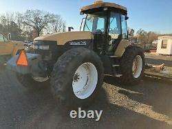 2002 New Holland TV140 4X4 with 22 ft Flail Mowers-Snow Blower-Loader