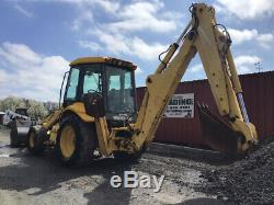 2003 New Holland LB110 4x4 Tractor Loader Backhoe Cab Ext Hoe One Owner 4700Hrs
