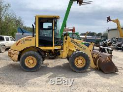 2003 New Holland LW80B Compact Wheel Loader with Cab Bucket and Forks