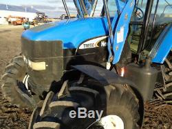 2003 New Holland TM190 Tractor, Cab/Heat/Air, 4WD, Loader, PowerShift, LOADED