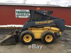 2004 New Holland LS180 Skid Steer Loader with Cab & 2 Speed