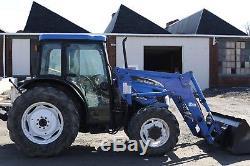 2004 New Holland TN75DA loader tractor 4x4, cab, heat, ac, PTO 3pt, shuttle NICE