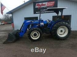 2005 NEW HOLLAND TN75DA 4X4 TRACTOR With LOADER 1681 HRS 75 HP Mech Shuttle Drive