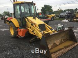 2005 New Holland LB90B 4x4 Tractor Loader Backhoe with Cab & Extend-A-Hoe