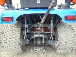 2005 New Holland Tz24da Compact Tractor With Loader & Mower 4x4 766 Hours 24 HP