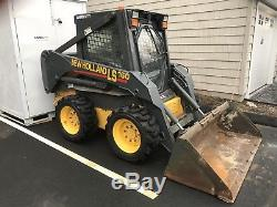 2006 NEW HOLLAND LS160 SKID STEER LOADER ENCLOSED CAB WITH HEAT One Owner