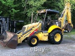 2007 New Holland B95 Backhoe 4x4 Extendahoe Loader