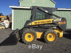 2007 New Holland L170 Skid Steer Loader Enclosed Heat Great To Plow Snow