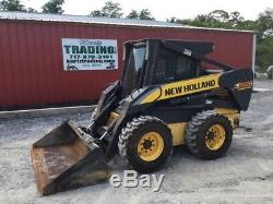 2007 New Holland L185 Skid Steer Loader with Cab & High Flow