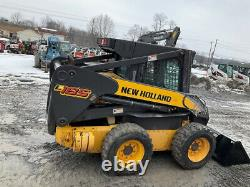 2007 New Holland L185 Skid Steer Loader with Cab Only 600 Hours Clean One Owner