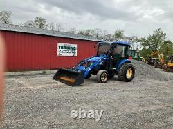 2007 New Holland TC45DA 4x4 Hydro 45Hp Compact Tractor with Cab & Loader