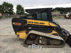 2008 New Holland C185 Compact Track Skid Steer Loader with Cab CHEAP