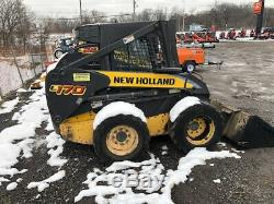 2008 New Holland L170 Skid Steer Loader with Cab Only 2600 Hours