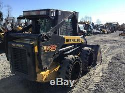 2008 New Holland L175 Skid Steer Loader with Cab 2 Speed CHEAP