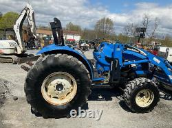 2009 New Holland TC48 4x4 Compact Tractor with Loader Only 1400 Hours