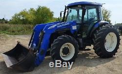 2009 New Holland TD5050 Utility Tractor 95 hp with 820TL Loader Cab/Heat/AC