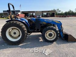 2009 New Holland TT75 4x4 75hp Utility Tractor with Loader Only 1000 Hours