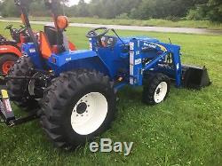 2010 New Holland T1510 4x4 Diesel Compact Tractor with Front End Loader