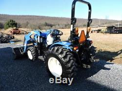 2011 New Holland Boomer 30 4X4 Diesel Compact Farm Tractor Loader 3 Point Hitch