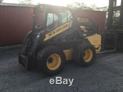2011 New Holland L230 Skid Steer Loader with Cab NO DOOR SELLING AS IS