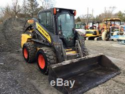 2012 New Holland L225 Skid Steer Loader with Cab 2 Speed Only 1600 Hours
