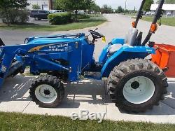 2012 New Holland T1520 35hp Compact Tractor With Loader Na# 164031