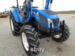 2013 New Holland T4.105, 4WD, NH 665TL Loader, 12 Spd Power Shuttle, 2,547 Hours