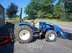 2014 NEW HOLLAND BOOMER 41, 4 WD TRACTOR 3 RANGE HYDRO with NH LOADER 344 HRS