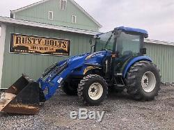 2014 New Holand Boomer 55 4x4 Diesel Tractor / Loader. Enclosed Heat Ac Clean