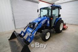 2015 New Holland Boomer 54d 4wd Cab Tractor Loader, Warranty And Only 59 Hours