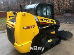 2018 New Holland C227 Compact Track Loader withCab, A/C Heat, Stereo ONLY 36 HRS