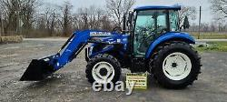 2018 New Holland Powerstar T4.75 Tractor WithCab & Loader. 92 Hours! Very Nice
